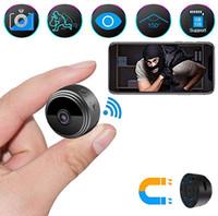 cámara s918 al por mayor-A9 WiFi cámara inalámbrica mini cámara HD 1080P de seguridad portátil Inicio encubierta niñera leva de movimiento interior activada Cámaras de visión nocturna