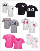 yankees jerseys majestuosos al por mayor-2019 hombres de encargo de las mujeres jóvenes New York Yankees 44 Reggie Jackson Majestic alternativo auténtico Base Flex camisetas de béisbol