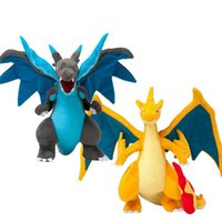 Wholesale shipping xy for sale - Group buy 2 Styles Mega Charizard Plush Toys Charizard XY Plush Doll Stuffed Soft Good Quality Great Gift Y200703