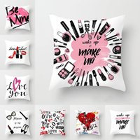 Wholesale make up days resale online - Make up Letter Print Pillowcase Couple Lover LOVE YOU Print Pillow Cover cm Valentines Day Pillowcase