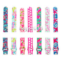 Wholesale silicone watches for women resale online - For Apple Watch Replacement Bands Lilly inspired Pulitzer Silicone mm mm Watch Band Straps Luxury Watchband for women girl men