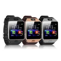 montre chaude téléphone achat en gros de-Vente chaude DZ09 Montre Smart Watch Dz09 Montres Bracelet Android Montre Smart SIM Intelligent Mobile Téléphone Veille État Veille