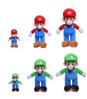 mario jouets en peluche gratuits achat en gros de-gros 25cm Super Mario Bros peluche Mario et Luigi Animaux en peluche Jouets en peluche pour les cadeaux Livraison gratuite