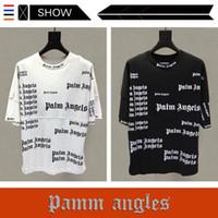 ingrosso magliette maniche pipistrello-Il popolare e popolare logo europeo PALM ANGELS T Shirt manica corta Mens Designer T Shirt The Bat Sleeve Maglietta allentata