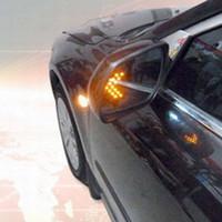 spiegel indikatoren großhandel-Rückspiegel 2 Stück Auto Rückspiegel LED-Pfeil-Panel-Blinker-Kontrollleuchte