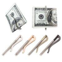 кошельки оптовых-1PC Metal Bifold Money Clip Clamp Cash Holder 2019 Fashion Men Women Bar Wallet Replace Parts Spring Clip New#H10