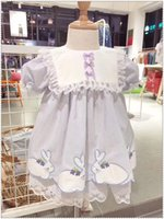 Wholesale birthday dresses for sale for sale - Group buy SALE Y BaBy Girl Rabbit Embroidery Vintage Spanish Pompom Gown Dress Lace Lolita Dress Princess Dress for Girl Birthday Party T200624