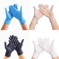 механические перчатки бесплатная доставка оптовых-100 PCS Одноразовые латексные перчатки ПВХ перчатки для мытья посуды Kitchen Латекс резиновые перчатки сада XL / L / M / S Универсальный Для дома Очистительные