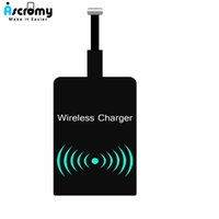 Wholesale cell phone charging pads online – Ascromy Universal Wireless Charger Receiver Micro USB Microusb Qi Standard Charging Recepteur Pad Module For Android Cell Phones