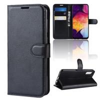 чехол для галактики samsung оптовых-Чехол для мобильного телефона для Samsung Galaxy A50 A40 A30 Роскошный кожаный флип чехол для Galaxy A70 A10 A20 крышка DHL Бесплатная доставка