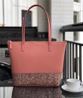 sacos de senhoras de marca para venda venda por atacado-Clássico Mulheres KS Designer Bolsas Giltter Estrelas Shopping Bag PU Leather Lady sacos de ombro Luxo marca duffle Feminino bolsa saco de venda C52808