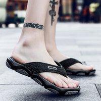 kore erkek sandalet toptan satış-Erkek terlik moda yaz aylarında giymek dış giyim flip-flop 2019 Kore versiyonu terlik sandalet kişilik SANDALS BEACH SHOES