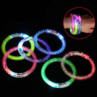 LED Lighted Toys Acrylic Flashing Bracelet Luminous Bracelet Party Supplies Kids Gifts