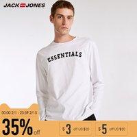pyjamahemd männer großhandel-Brand BZSJ Serie NEU Regular Fit CasualHome Pyjama Rib O-Neck Briefdruck Langarm Top T-Shirt Herren | 2183HE501