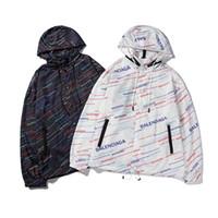 ingrosso corpo del logo-Nuove giacche firmate da uomo giacca giacca a vento con cappuccio sottile giacca Classic full-body bb Giacca con logo di protezione solare con stampa di alfabeto