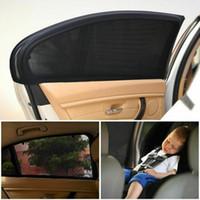 visor lateral de la ventana del coche al por mayor-2 x Ventana lateral trasera del coche Visera parasol Sombra Cubierta de malla Protector Parasol UV Protector