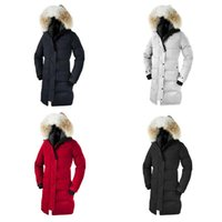 DHL Winter Frauen Gans Shelburne Parka Outdoor Kanada Dicke Warme Gänsedaunenjacke Damen Langer Abschnitt Schlank Winddicht Mit Kapuze Daunenparkas