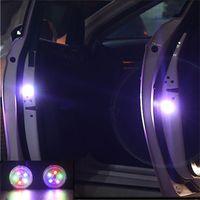 Wholesale camping car design resale online - 2pcs set LEDs Car Door Opening Warning Lights Wireless Magnetic design Strobe Flashing Anti Rear end Collision Safety Lamps