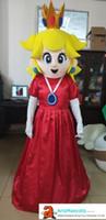 ingrosso costumi della mascotte della principessa degli adulti-Bella principessa Peach Mascot Costume Personaggio dei cartoni animati per adulti Costumi mascotte Evento Deguisement Mascotte Mascotte personalizzate ArisMascots