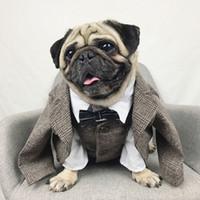 ropa extra grande de boda al por mayor-Ropa para perros Boda Mascota Traje de perro Mascotas formales Perros Ropa para perros Disfraces Suministros para mascotas Ropa para mascotas Traje de cachorro Bulldog Pug al por mayor