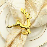 decoracion de anillos al por mayor-Deerlet Anillos de servilleta para boda Servilletero Cena occidental Anillo de toalla Hotel Mesa Decoración servilleta titular KKA6863