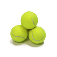 tennisbälle groihandel-Training Standard Tennisball Gummi gute Absprung 1,3 Meter beständigsten Tennis offizielle Ball neongelb Sport Ball spielen kein Logo ZZA852-8