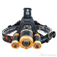 lâmpada de água de peixe venda por atacado-Ouro Head Light Água nariz da aeronave Proof Camping Equipamento Outdoor telescópico incidem Strong Pesca Lamp Noite de equitação Carga 25js bbWW