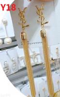 ingrosso orecchini a forma di imitazione di moda-2019 Desinger Luxury Classic cristallo Y lettera orecchini gioielli moda per le donne dichiarazione imitazione orecchini di perle gioielli