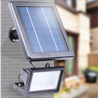 cuentas de la pared al por mayor-30 perlas LED Ahorro de energía patio exterior césped jardín lámpara Solar Power Powered Floodlight Lamp Luz de inundación de seguridad