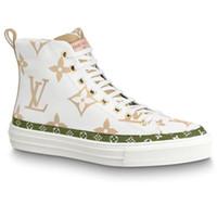 ingrosso ciao top marche-Donne di marca chic lettera stampata su tela Stellar Hi-top sneaker boot designer signora zip laterali in gomma suola scarpe casual