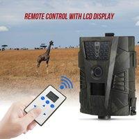 cámara gprs remota al por mayor-HT-001 Cámara de caza de vida silvestre 940nm 8MP 720P Cámara GPRS Trail Cámaras de visión nocturna Scouting con control remoto LCD