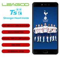 leagoo phone al por mayor-Original LEAGOO T5c 5.5 pulgadas Phablet 3GB RAM 32GB ROM Android 7.0 SC9853 Octa Core 13.0MP + 2.0MP Cámaras duales Teléfono 4G con huellas dactilares