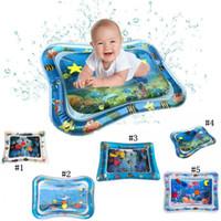 mejores asientos al por mayor-El agua inflable del amortiguador mejor bebé Toy Home Mats asiento para bebés Tiempo de la panza ficticio Mats bebés 5 MMA1940-1 estilo diferente