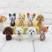 Wholesale dog toy car decoration for sale - Group buy 8styles Dog Ornament Mini Car Interior figure Toys Car Doll Head Shaking Decoration Bobblehead Toys cute kawaii toy FFA1596