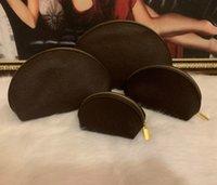 Wholesale make up days resale online - 4pcs set Women cosmetic bags famous makeup bag designer travel pouch make up bag ladies cluch purses organizador toiletry bag