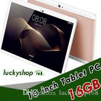 10 inch tablet оптовых-20X высокое качество Octa Core 10 дюймов MTK6582 IPS емкостный сенсорный экран dual sim 3G tablet phone pc android 6.0 4GB 64GB