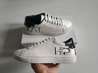 hombres hermosos al por mayor-NUEVA moda de lujo para hombres zapatos de diseñador de calidad superior de cuero real diseñador de moda zapatillas de deporte de las mujeres hermosas zapatillas para correr tamaño venta 35-46