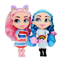 Wholesale new cartoon model girls resale online - 2019 New arrival Styles Action Figures long hair girls dolls with jewelry plastic doll dress up doll Christmas gifts