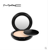 фабрика порошковой косметики оптовых-МАК КРАСОТА МАКИЯЖ M MC MACS Пудра для лица Фабрика Прямой Новый макияж для лица 15 г Studio Fix Powder Plus Foundation!