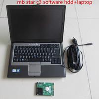 probadores de estrellas mb al por mayor-El último mb star c3 hdd con d630 PC Diagnóstico del multiplexor de diagnóstico de alta calidad MB Star C3 software 160GB HDD versión 2014.12