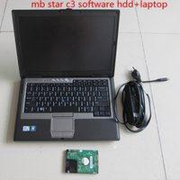 mb stern tester großhandel-Neueste mb star c3 hdd mit d630 PC Hohe Qualität MB Diagnostic Multiplexer Tester Star C3 Software 160 GB HDD 2014.12 Version