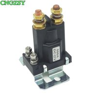 Wholesale 12vdc relays resale online - Car Auto Power On Off Switch VDC Heavy Duty A Pin Relay Double Batteries Isolator for Forklift bulldozer Control R25