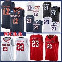 c3d2b02207da9 Wholesale basketball jersey for sale - 12 De Andre Hunter Virginia  Cavaliers College Ncaa Jersey Jarrett