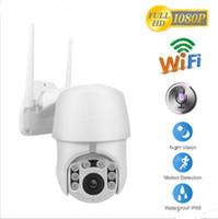 drahtlose ip-pan-kipp-kamera groihandel-2019 1080P IP-Kamera Wifi Außen Speed Dome drahtlose Wifi-Überwachungskamera Pan Tilt 4X Digitalzoom 2MP Netzwerk CCTV-Überwachung