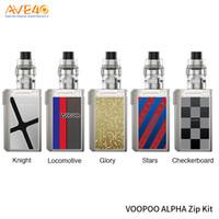 ingrosso scatole alfa-VOOPOO Alpha Zip Kit con 180 W VOOPOO Alpha Zip Box Mod 4ml VOOPOO Maat Tank PnP Mesh bobina 100% autentico