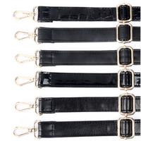 sacos de ombro de alça longa preta venda por atacado-Longa alça de bolsa preta ajustável Diy de substituição Pu Leather Shoulder Bags Straps, cintos para bolsas, bolsas (4 cores de metal)