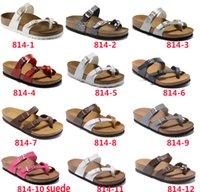 zapatillas de corcho de hombre al por mayor-Mayari 2019 Nuevo estilo Playa de verano Zapatillas con chanclas y sandalias de corcho Mujer HOMBRE Color Casual Diapositivas Zapatos envío libre plano 35-46