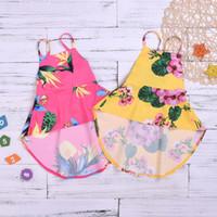robes à petites fleurs achat en gros de-Nouvelles filles habillent l'Europe et l'Amérique 3-8 ans petites et moyennes filles mignonnes robe imprimée de fleurs V065