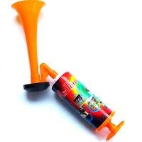 ingrosso puntelli a mano-Fan di pallone da calcio cheerleading corno sport riunione club props regolabile Plastica tromba bambino Toy Hand Push Pompa di gas aria Horn