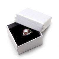 925 ring echte perle großhandel-JNMM Echte Hochzeit Schwarz Süßwasserperlen Ringe für Frauen, Weiß Günstige Böhmischen Ring Silber 925